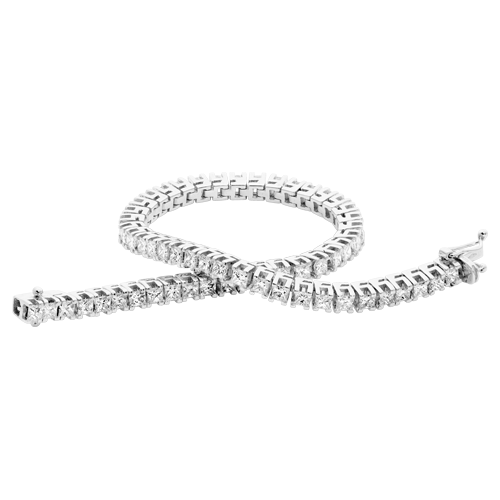 Flexi-Link Princess Cut Diamond Bracelet