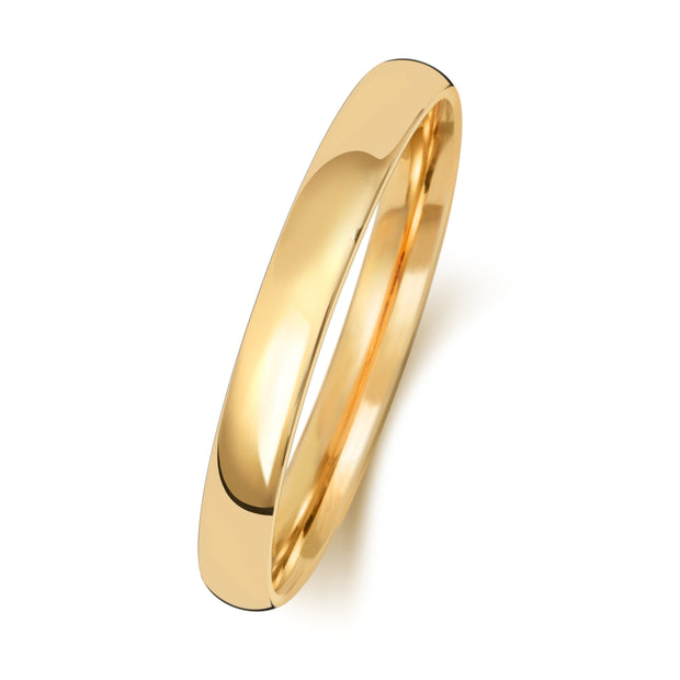 Traditional Court 2.5MM Heavy Weight 9ct Yellow Gold