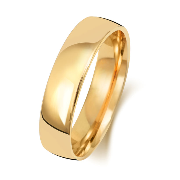 Traditional Court 5MM Light Weight 18ct Yellow Gold