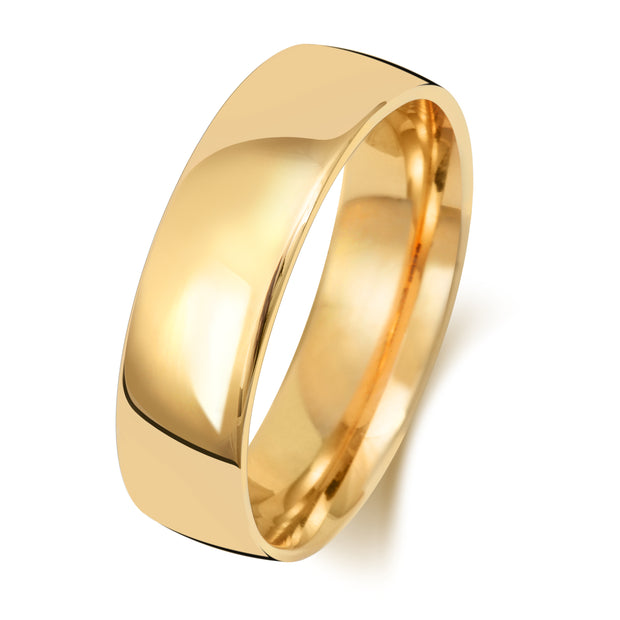 Traditional Court 6MM Light Weight 18ct Yellow Gold