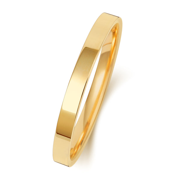 Flat Court 2MM Medium Weight 9ct Yellow Gold