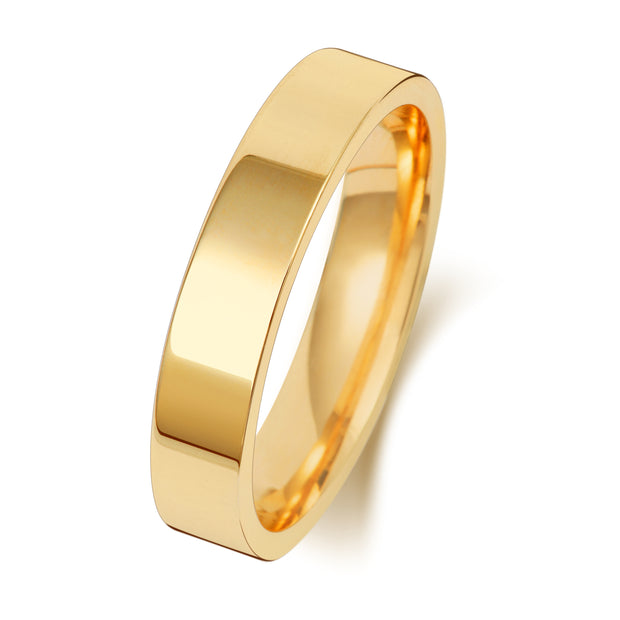 Flat Court 4MM Heavy Weight 18ct Yellow Gold