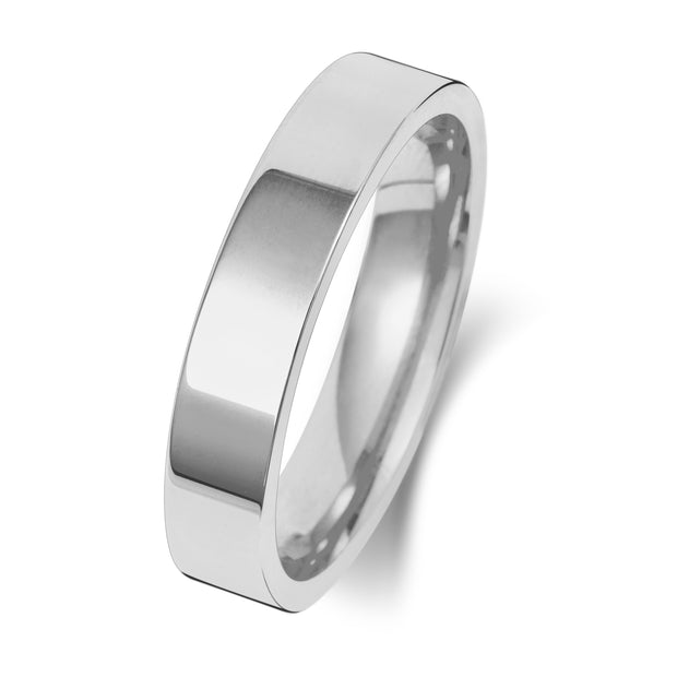 Flat Court 5MM Heavy Weight 18ct White Gold
