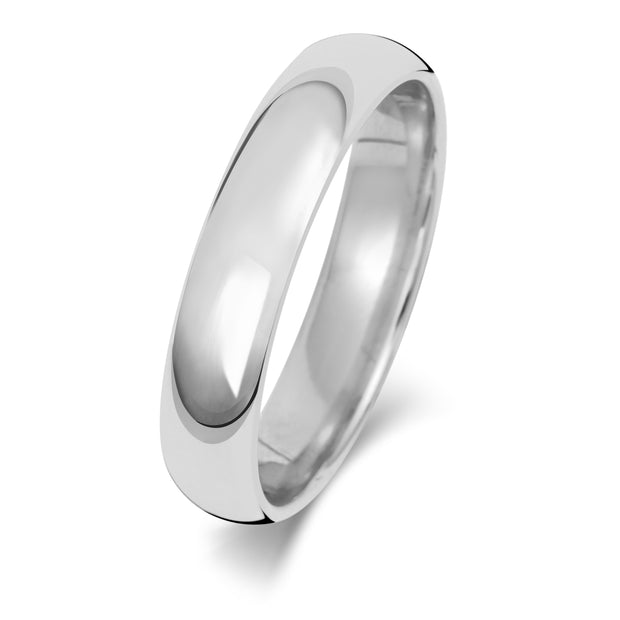 Traditional Court 4MM Medium Weight 18ct White Gold