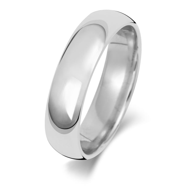 Traditional Court 6MM Medium Weight 9ct White Gold