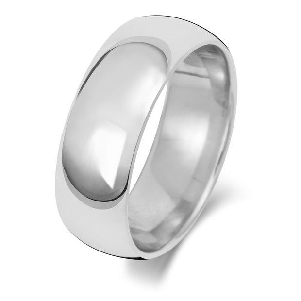 Traditional Court 7MM Medium Weight 18ct White Gold
