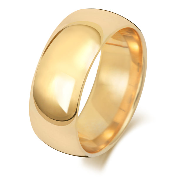 Traditional Court 8MM Heavy Weight 18ct Yellow Gold