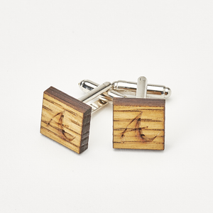 Oak Barrel Stave Cufflink