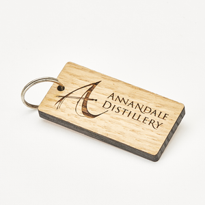 Vintage Oak Whisky Barrel Key Ring