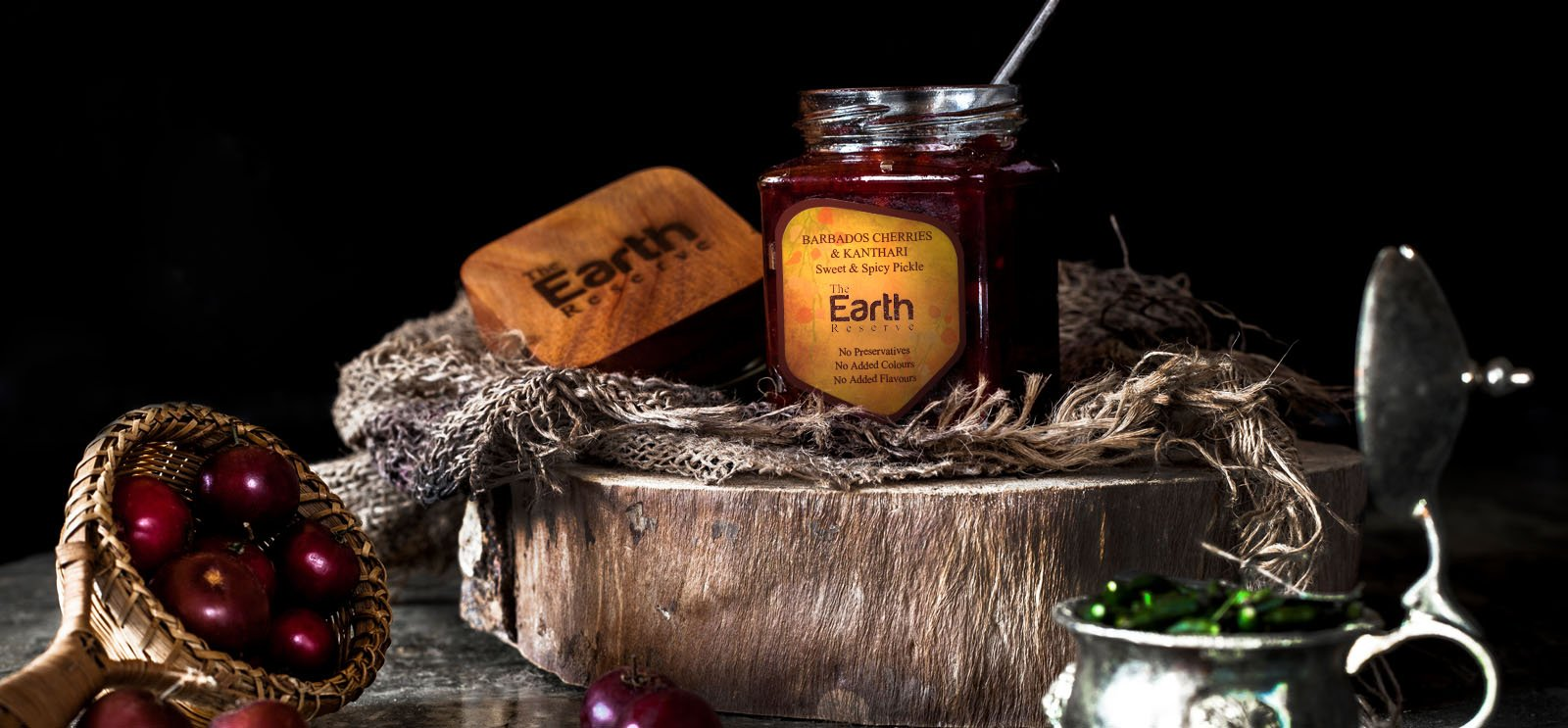 All Natural Barbados Cherries & Kanthari, Sweet & Spicy Pickle