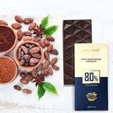 Piperleaf 80% Dark Chocolate - Plain - Pack of 2