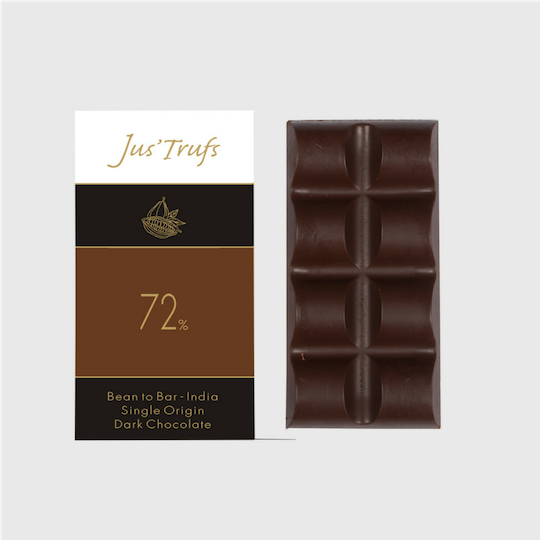 Artisanal 72% Dark Chocolate Bar, Set of 2