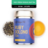 Ruby Oolong Tea - Champagne Gold Gift Caddy, 50 gm | 20 cups