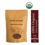 Pristine Fields of Gold Organic Brown Channa (1 kg)