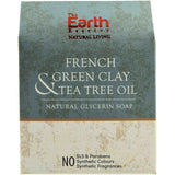 French Green Clay & Tea Tree Oil Natural Glycerin Soap