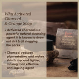 Activated Charcoal & Orange Natural Glycerine Soap