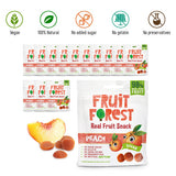 Fruit Forest Real Fruit Gummy Pack of 14 100% Naturally Sweet Snack No Added Sugar  Vegan Peach