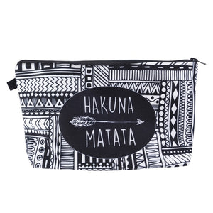 Graphic Makeup Pouches