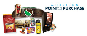 Easels, Airpot Wraps, Signage, Way-finding signs, and Counter Mats from various gas stations.