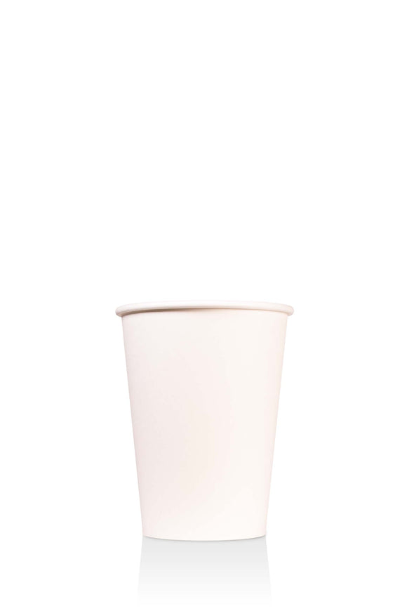 1000 bulk pack of 12 ounce, white, paper cups with lids available.