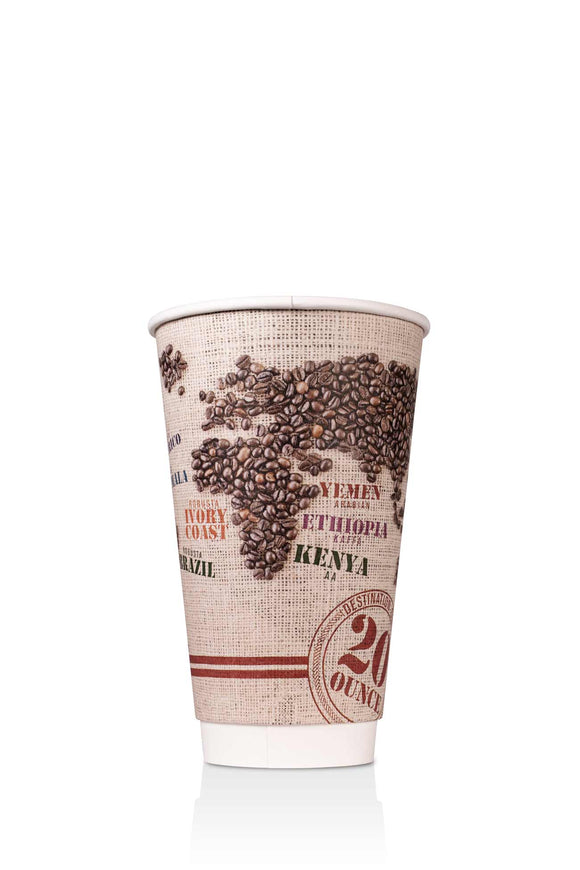 Destination Coffee Insulated Paper 20oz