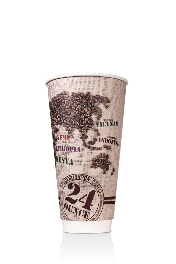 Destination Coffee Insulated Paper 24oz