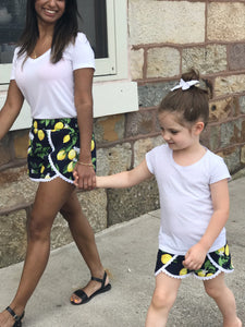 Infant, Children & Youth Lovely Lemon Scalloped Shorts