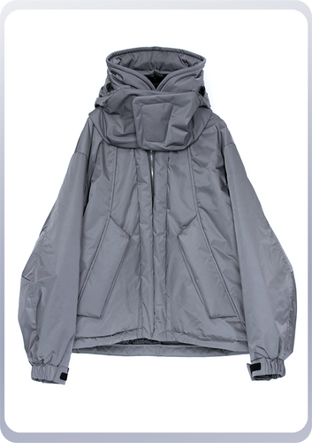 [先行受注 前金30%] SHELTER COAT :short model / steelgray