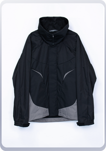 [先行受注 前金100%] CYLO JACKET :funnel neck model / black×steelgray