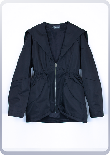 [先行受注 前金30%] SAILOR HOOD JACKET / black