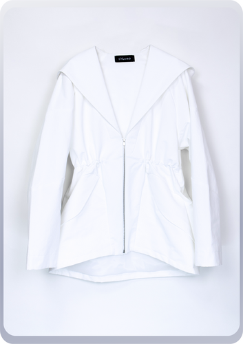 [先行受注 前金30%] SAILOR HOOD JACKET / white