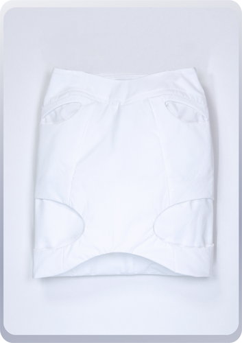 [先行受注 前金30%] 00FORM TIGHT SKIRT / white