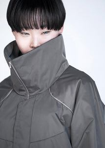 [先行受注 前金30%] CYLO JACKET :funnel neck model / steelgray