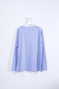 "LONG SLEEVE T-SHIRT ""connect"" / babyblue"
