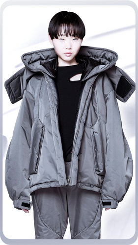 [先行受注 前金100%] SHELTER COAT :short model / steelgray
