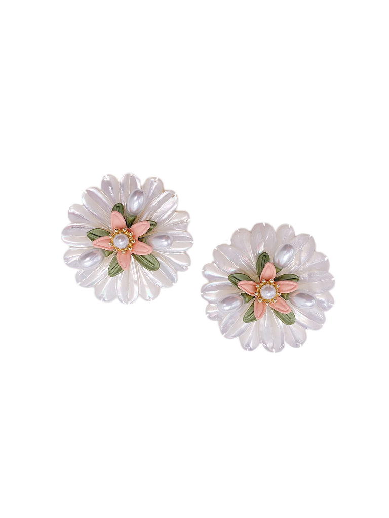 garden party floral studs