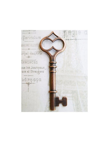 Large Infinity Antiqued Copper 4.5 inch Skeleton Key