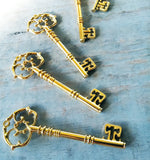 3.25 inch Antiqued Gold Skeleton Keys