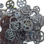 Gunmetal Dark Silver Assorted Gears 10mm-26mm