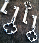 Antiqued Silver Barrel Keys