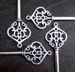 Castle Gate 2.75 inch Antiqued Silver Skeleton Keys