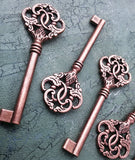 3.5 inch Antiqued Copper Skeleton Keys