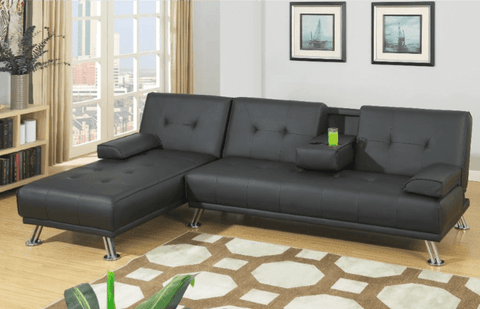 Boscombe Adj Chaise Sofa LHF in Black