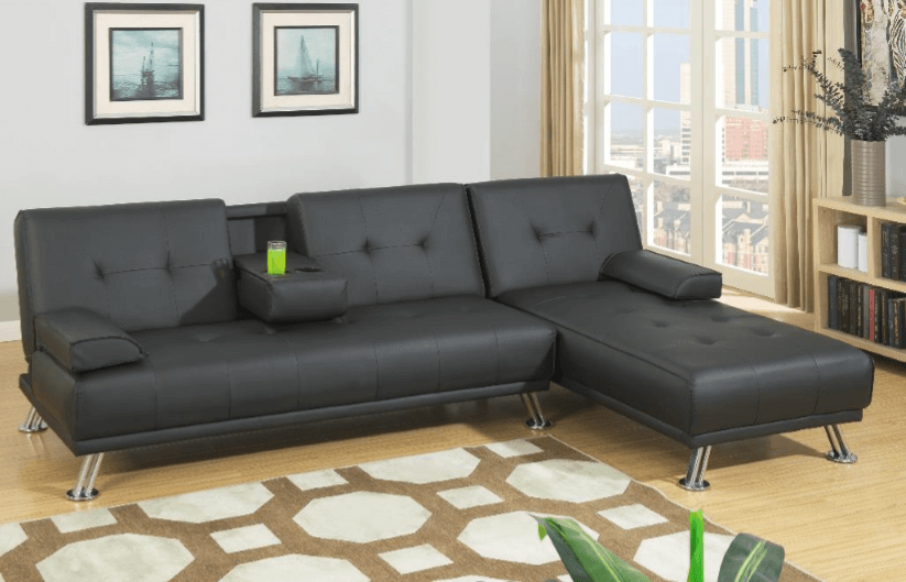 Boscombe Adj Chaise Sofa RHF in Black