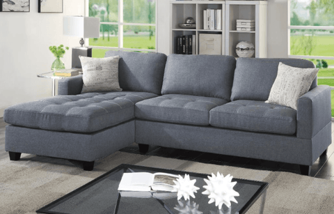 Holworth Chaise Sofa in Grey LHF