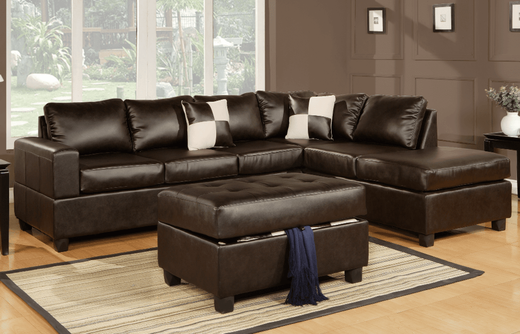Langton Chaise Sofa in Espresso RHF