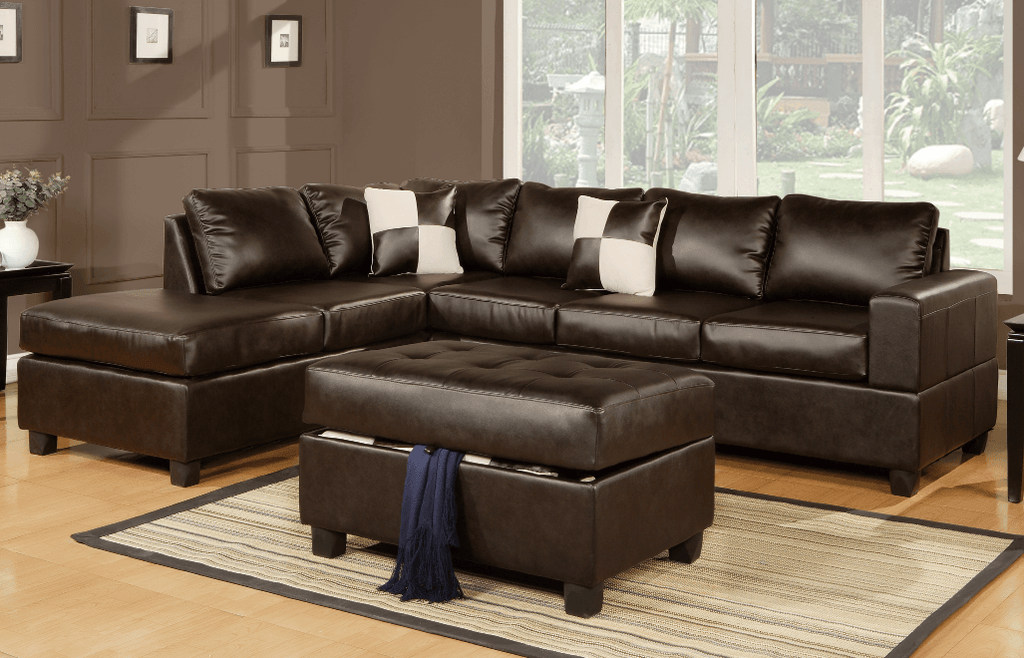Langton Chaise Sofa in Espresso LHF
