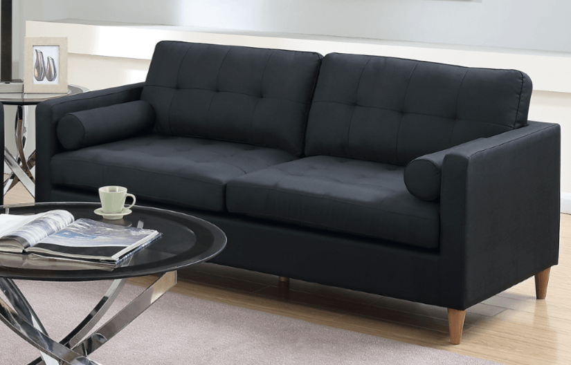 Arne Three Seat Sofa in Black