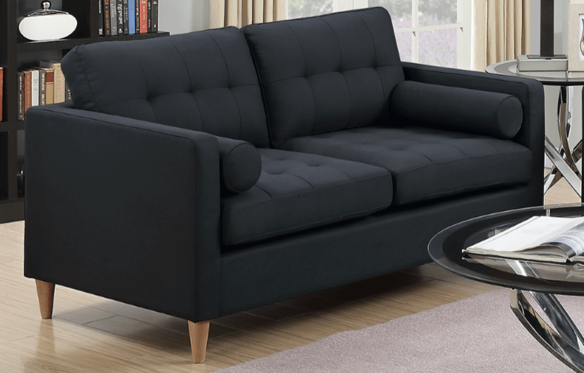 Arne Two Seat Sofa in Black