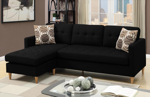 Arne Polyfibre Chaise Sofa Black